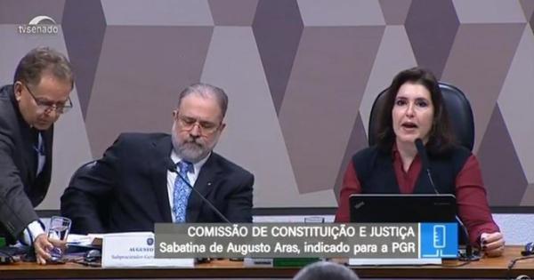 AO VIVO - CCJ do Senado sabatina Augusto Aras indicado a PGR