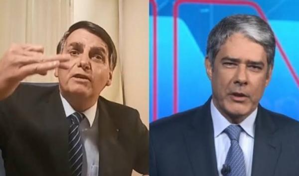 Bolsonaro pode ficar frente a frente com Bonner e promete não deixar pedra sobre pedra