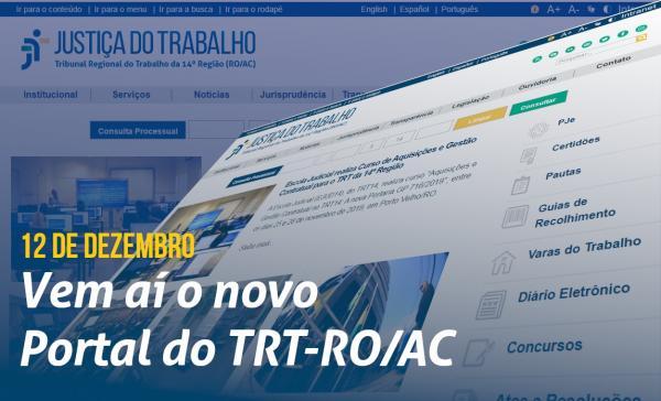 TRT-RO/AC LANÇA NOVO PORTAL NESTA QUINTA (12)