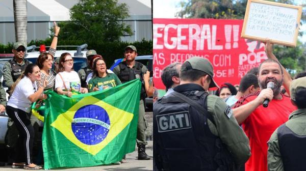 Manifestante é preso nesta Sexta (10) antes de evento com Bolsonaro
