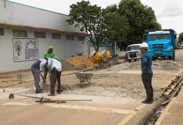 Lombadas Elevadas estão sendo refeitas em Ji-Paraná