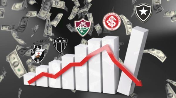 CONFIRA OS 20 CLUBES BRASILEIROS MAIS ENDIVIDADOS, BOTAFOGO ESTA EM PRIMEIRO.
