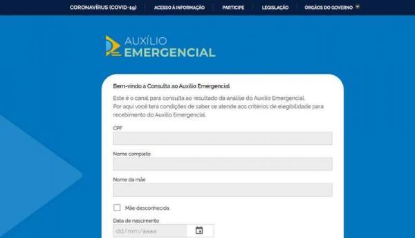 Governo lança novo site para consulta a auxílio emergencial de R$ 600
