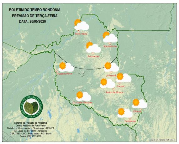 CLIMA - Terça feira continua com clima chegando a 18 Graus em Ji-Paraná