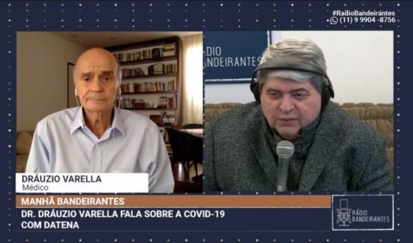 Datena abandona entrevista ao vivo com Drauzio Varella