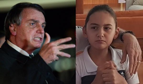 Bolsonaro responde crítica após foto polêmica com a filha Laurinha