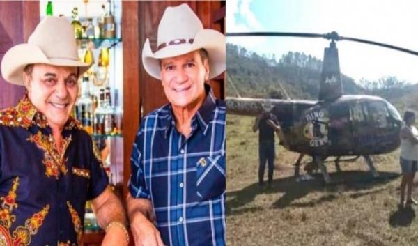 Helicóptero da dupla sertaneja Gino e Geno sofre incidente em Minas Gerais