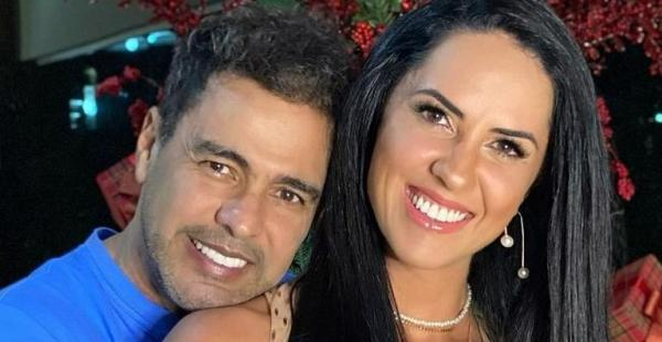 Ap�s fase dif�cil, Graciele Lacerda posa com Zez� Di Camargo e afirma: ''Voltando a sorrir''
