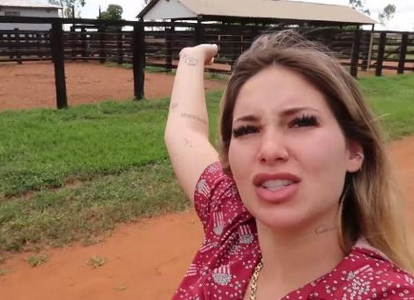 Virg�nia Fonseca faz tour pela fazenda de Leonardo: