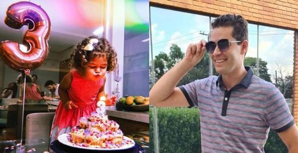 Pedro Leonardo encanta ao relembrar aniversário de três anos da filha, Mavie