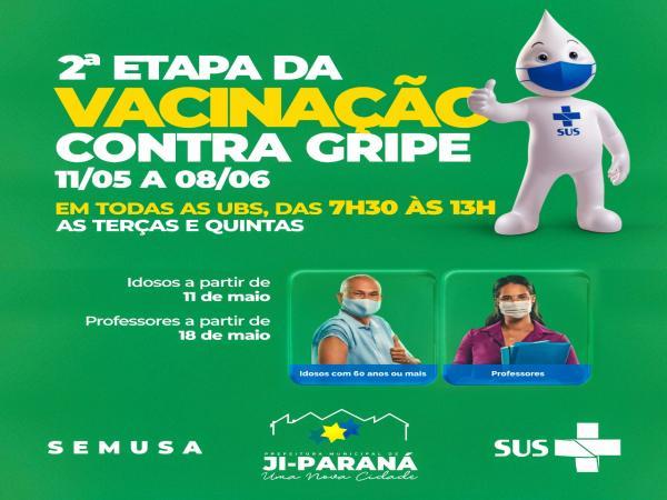Iniciada segunda etapa da Campanha de Vacinação contra Gripe