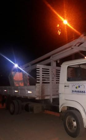 Semosp continua com recuperação e manutenção da iluminação pública