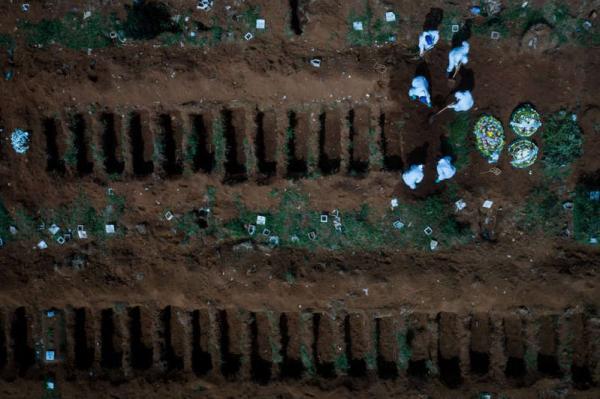Brasil ultrapassa 540 mil mortes por COVID