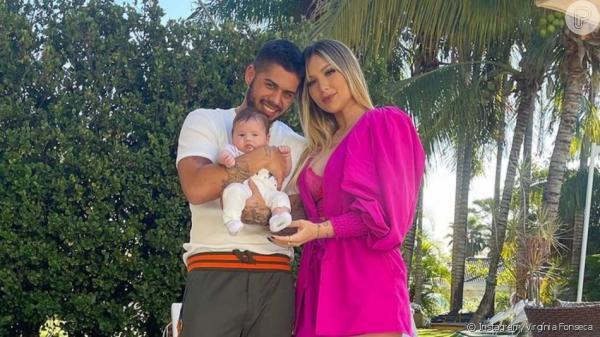 Zé Felipe comemora 1º Dia dos Pais ao lado de Virgínia Fonseca e da filha: 'Amor da vida'
