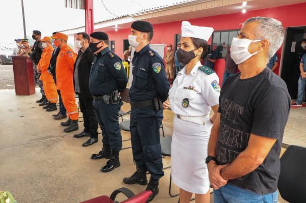 Vice-prefeito Joaquim Teixeira participa de formatura do Corpo de Bombeiros