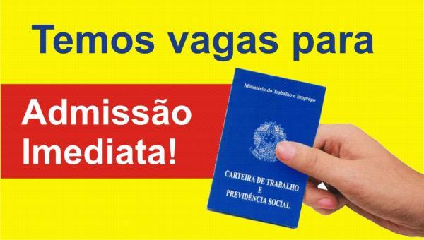 OPORTUNIDADES - Confira ofertas de Emprego em Ji-Paraná para esta Quinta (04)