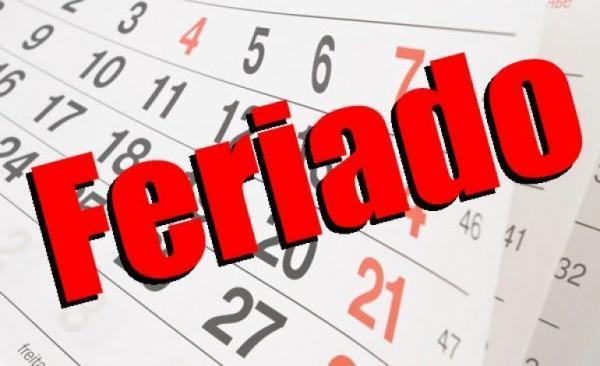 FERIADÃO - Órgãos Públicos iniciam feriado na Quarta Feira (17), confira o que abre e o que fecha durante a Semana