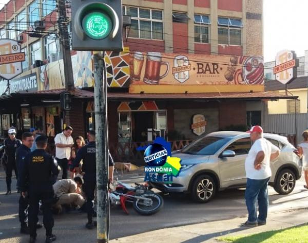 ACIDENTE - Motociclista sofre grave acidente no Centro