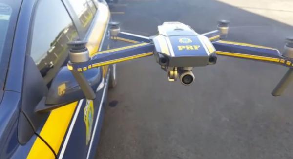 POLICIA RODOVIÁRIA USA DRONE PARA FLAGRA EXCESSO DE VELOCIDADE E IRREGULARIDADES NA BR 364