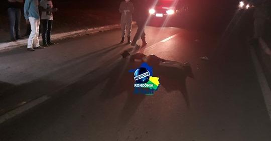 Jovem morre atropelado na Br- 364, na madrugada desta quinta-feira, em Ji-Paraná