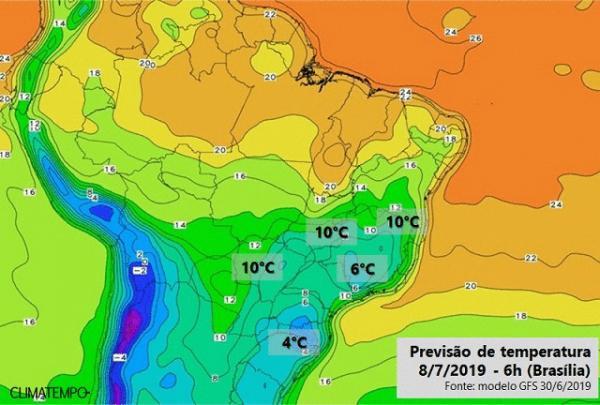 Frio intenso no sul do país também muda temperatura em Rondônia nos próximos dias